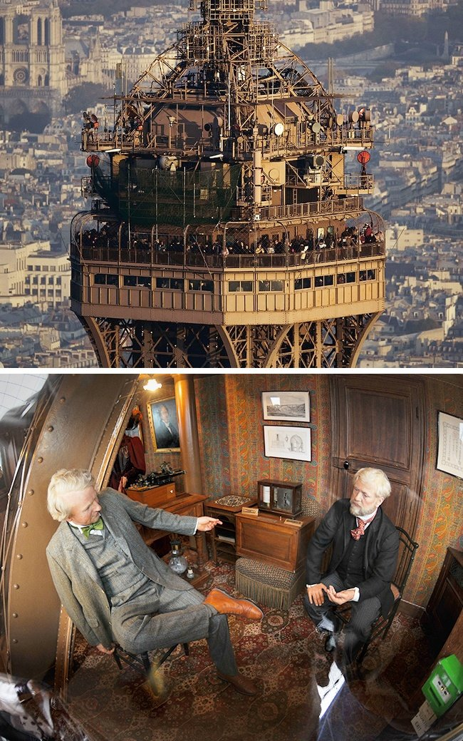1. The top floor apartment of the Eiffel Tower