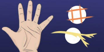 What can a triangle, cross or any geometric shape on your palm tell about your destiny?