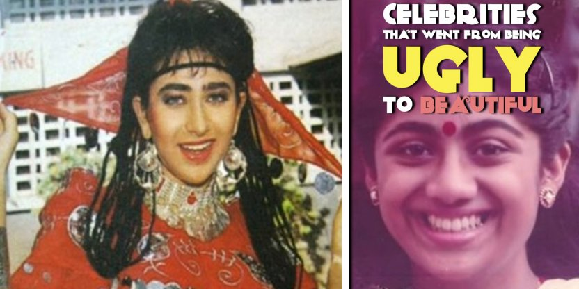 Celebrities that went from being ugly to beautiful! You have to see the way Sridevi looked!