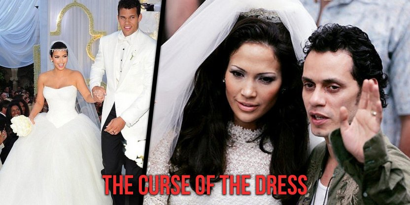 The curse that 9 celebrities who have married in this wedding dress have experienced...