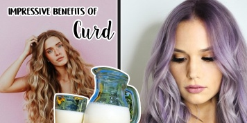 What benefits does curd have for beautiful hair and skin?