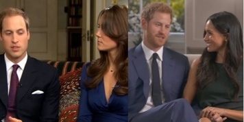 Body language experts compare the relationship between Prince Harry and Meghan with Prince William and Kate
