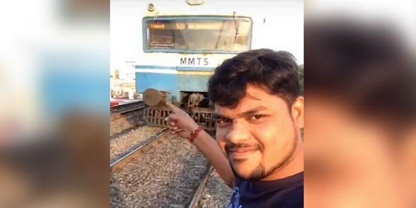 Man hit by a train while trying to take a selfie! VIDEO!
