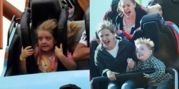 10 Hilarious photos of people in roller coasters