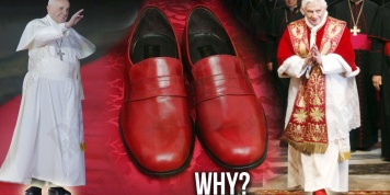 Why Pope Francis DOES NOT wear red shoes like his predecessors