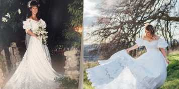 A touching story of a woman who wore her mother's wedding dress...
