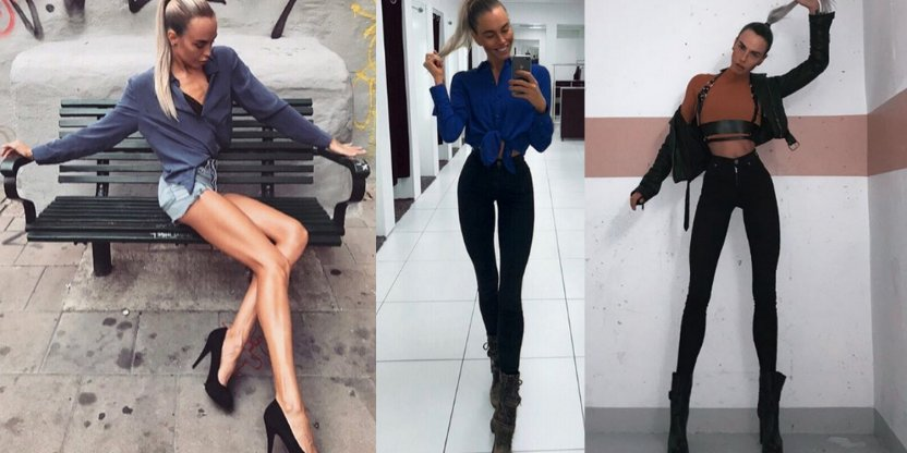 Swedish model with 3.5 foot, SUPER LONG, legs