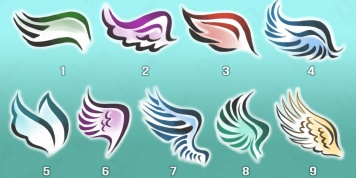 By choosing an angel wing find out about your personality...