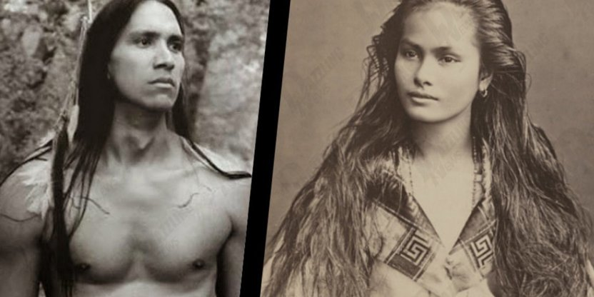 Why Indians had long hair?