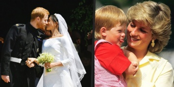 Lady Di was present in these 5 touching details of the wedding between Harry and Meghan...