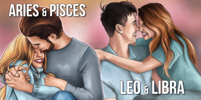 6 Couples and signs of the zodiac that will never separate from each other...
