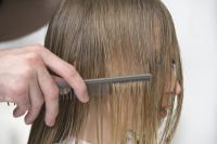 7. Combing your hair before drying your hair