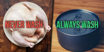5 Foods that should not be rinsed before cooking and 5 that should...