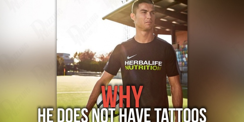 Why Cristiano Ronaldo does not have tattoos?