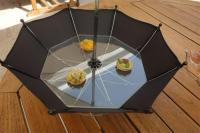 3. An umbrella that acts as a dish ...
