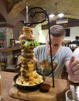 12. A burger that hypnotizes us with its size...