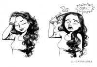 7. Playing with your hair is a NO-NO! Everything gets stuck in there!
