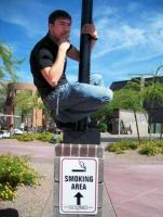 9. Restricted smoking area…