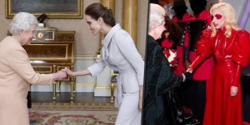 How celebrities dress up when they meet the Queen