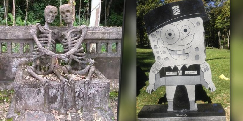 15 Photos of the strangest headstones from around the world...