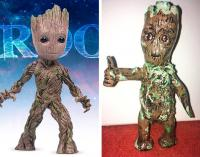 4. I found the figure of Baby Groot online, and when it arrived at my house I was disappointed
