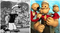 6. Popeye the sailor became stronger over time