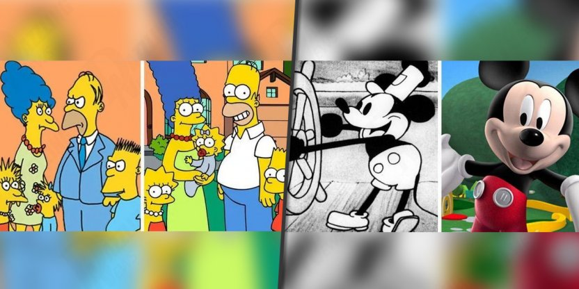 15 Famous cartoon characters and their evolution over time