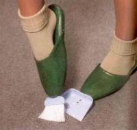 8. Shoes with broom and dustpan included...