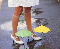 9. Umbrellas for shoes... not suitable for puddles