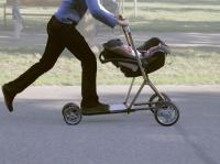 15. A baby stroller that includes a scooter... The best invention of all!