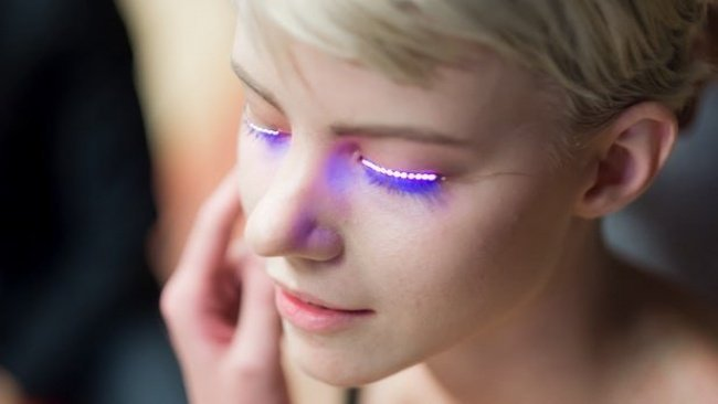1. False eyelashes with LED lights, something revolutionary that we DO NOT need... 1