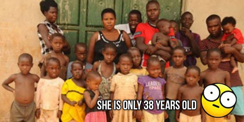 The incredible story of a Ugandan woman who has more children than her age!