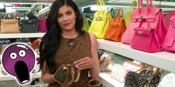 Kylie Jenner shows everything she has in her dressing room