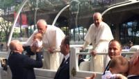 "Science or miracle? A baby with terminal cancer ""heals"" after receiving a kiss from Pope Francis 3"