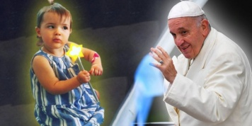"Science or miracle? A baby with terminal cancer ""heals"" after receiving a kiss from Pope Francis"