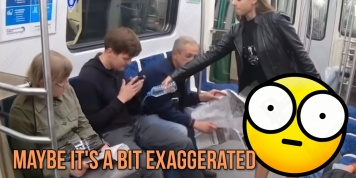 Feminists pour bleach on men for opening their legs in a subway