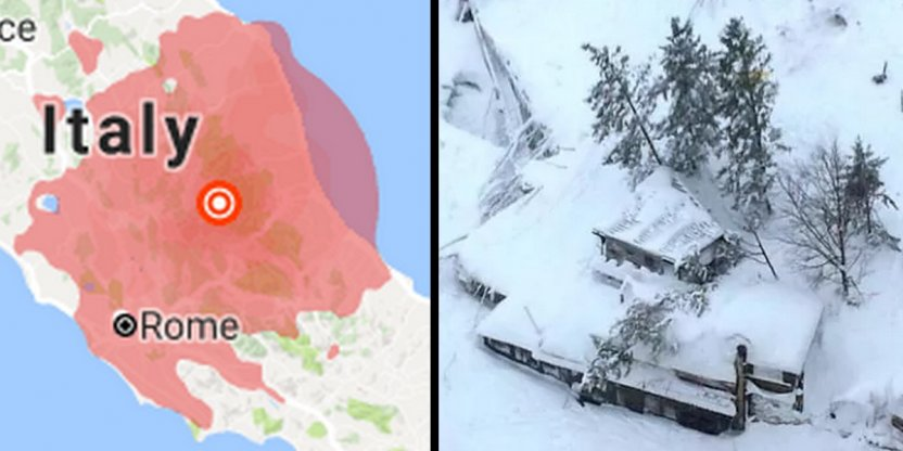 Italy hit by four powerful earthquakes in four hours, avalanche buries hotel